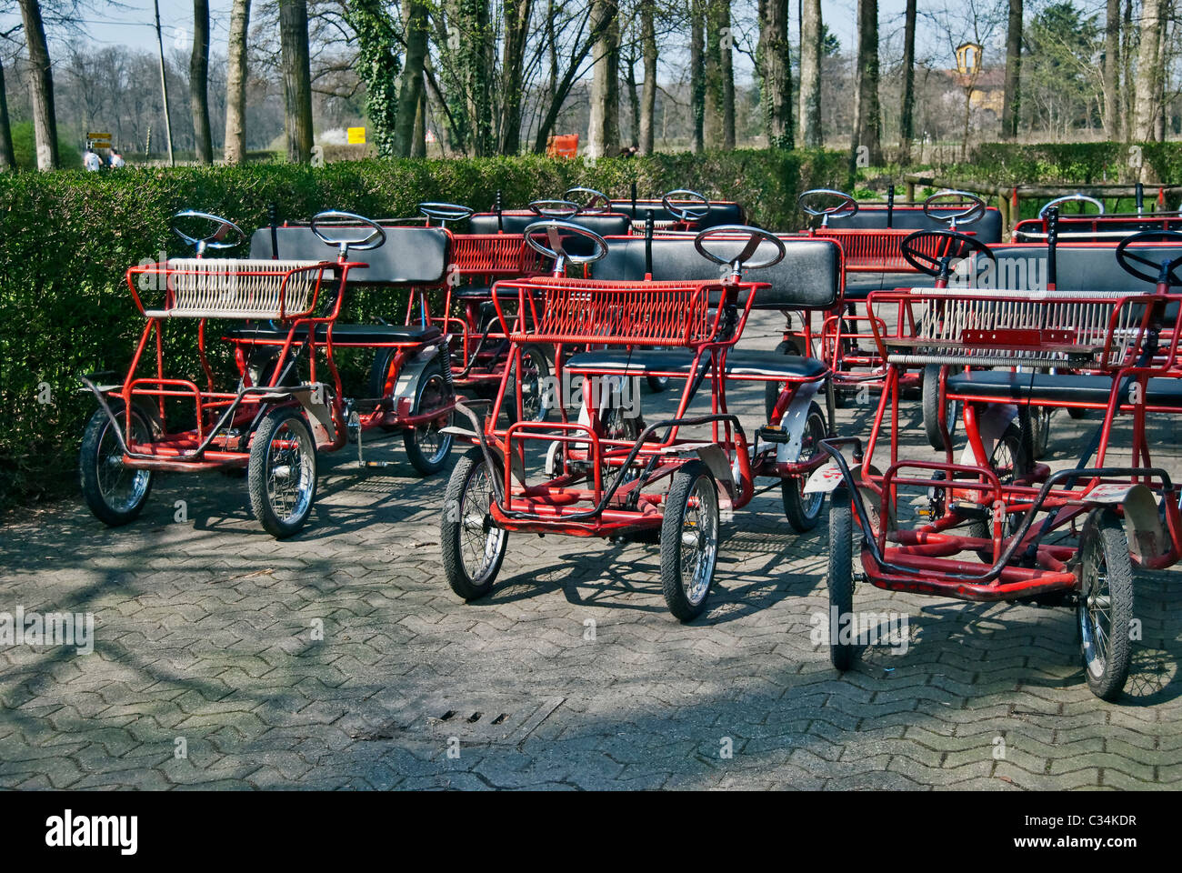 rickshaw in the park of Monza, Italy - Stock Image