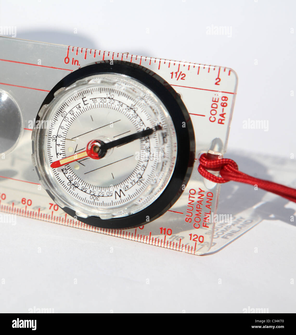Modern navigation compass - Stock Image