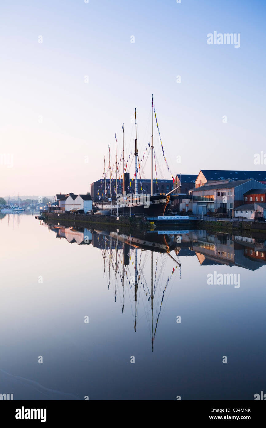 Bristol Floating Harbour and the SS Great Britain. Bristol. England. UK. Stock Photo