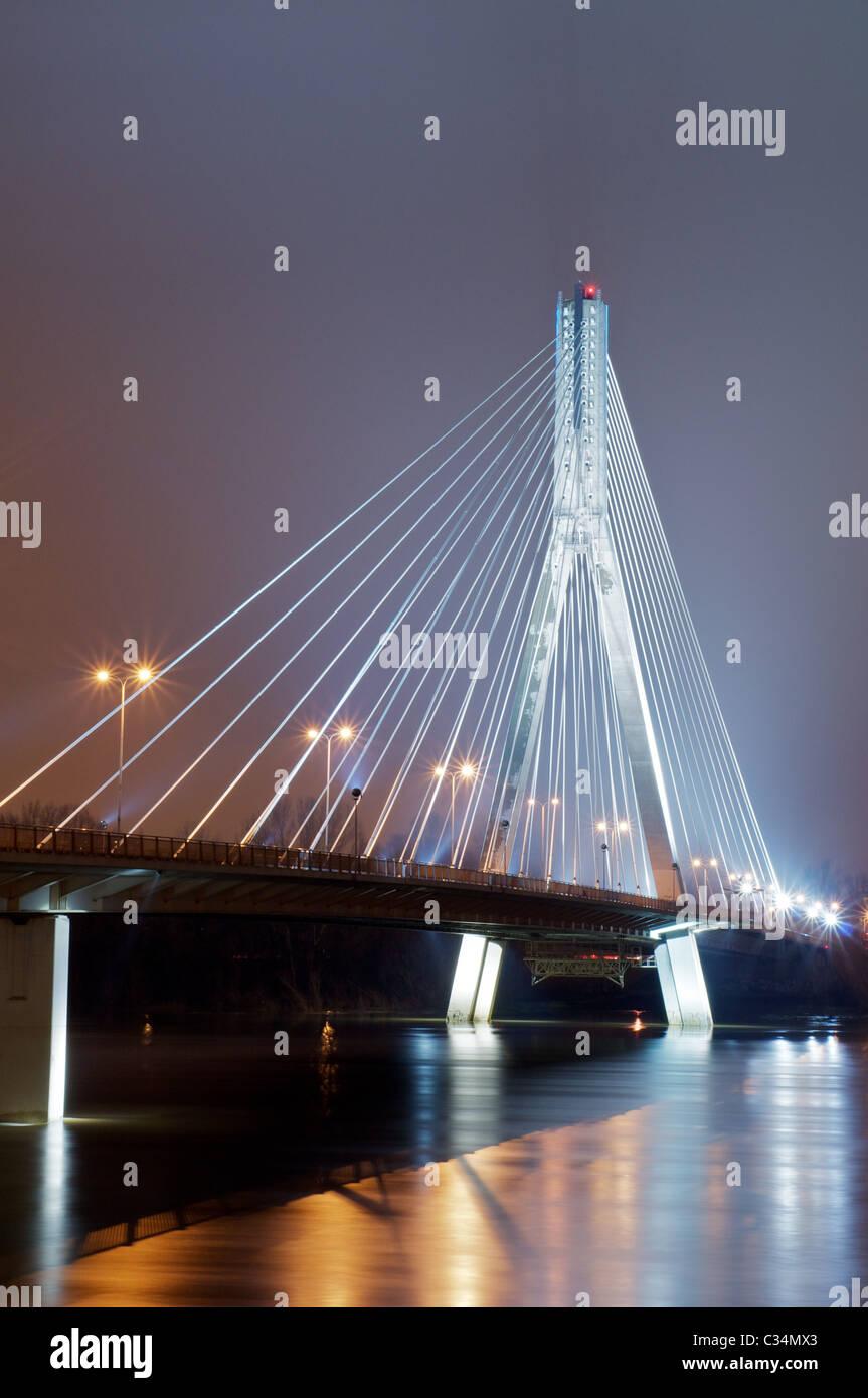 Swietokrzyski bridge, Warsaw Stock Photo