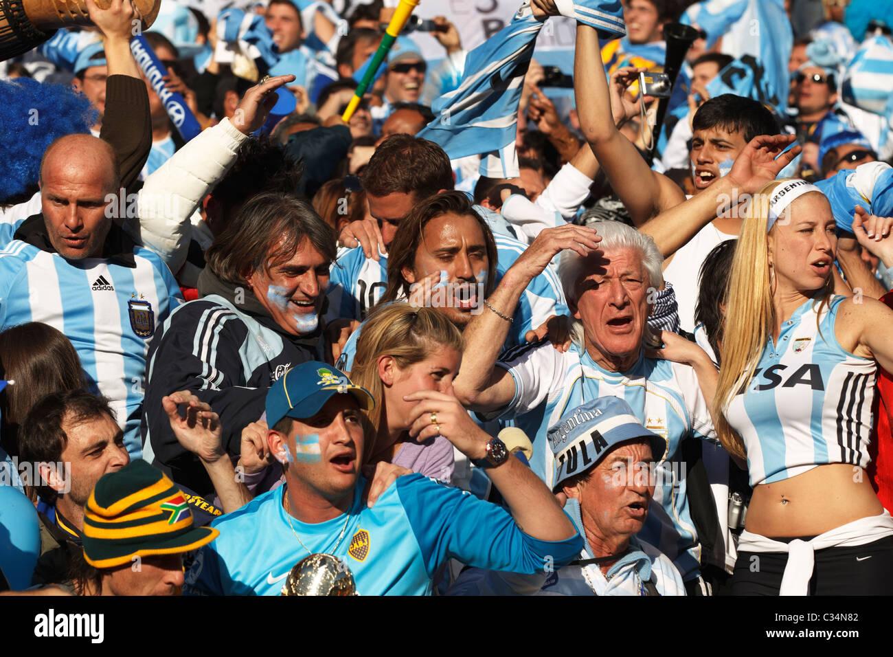 Argentinsk supporter dod