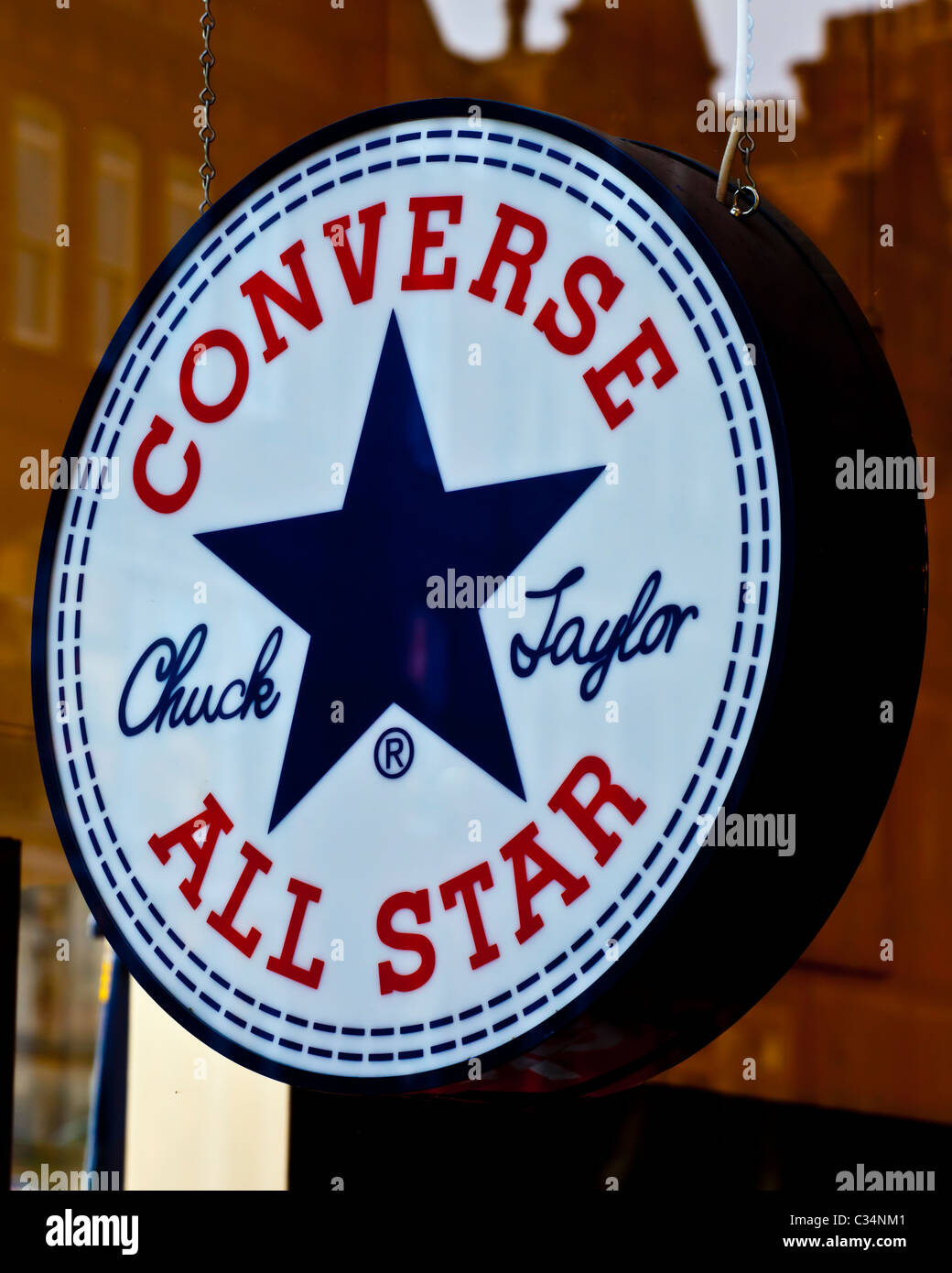 0214cdbcee60 A Converse All Star  Chuck Taylor  Store Sign Stock Photo  36369537 ...