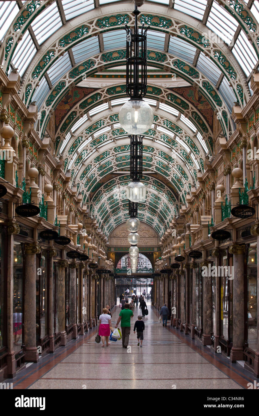 County Arcade, Leeds, West Yorkshire, England, UK - Stock Image