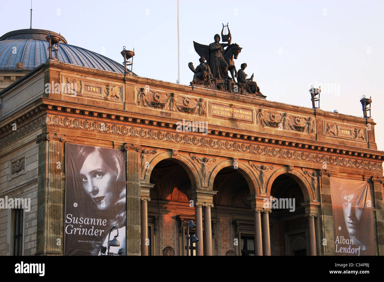The Royal Danish Theatre, The Old Stage, in Copenhagen - Stock Image