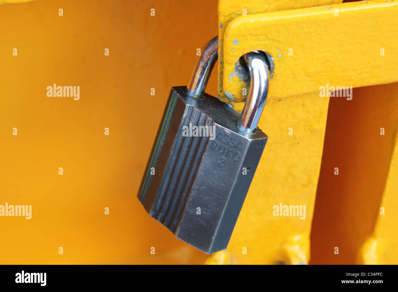Close up of a lock Stock Photo