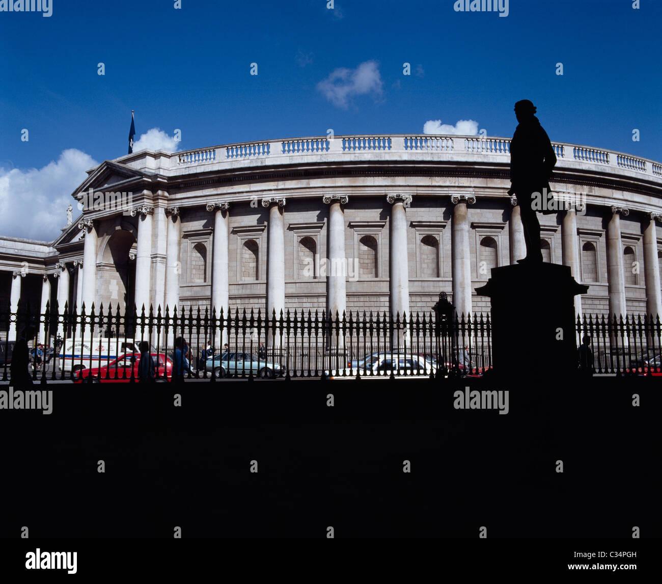 Dublin,Ireland;Bank Of Ireland And College Green Stock Photo