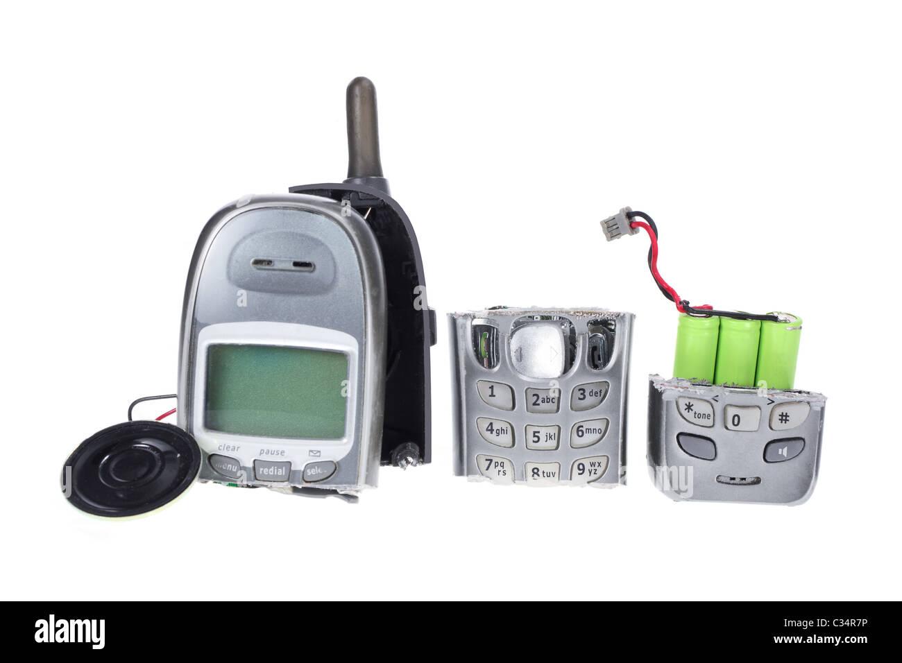 Broken Mobile Phone - Stock Image