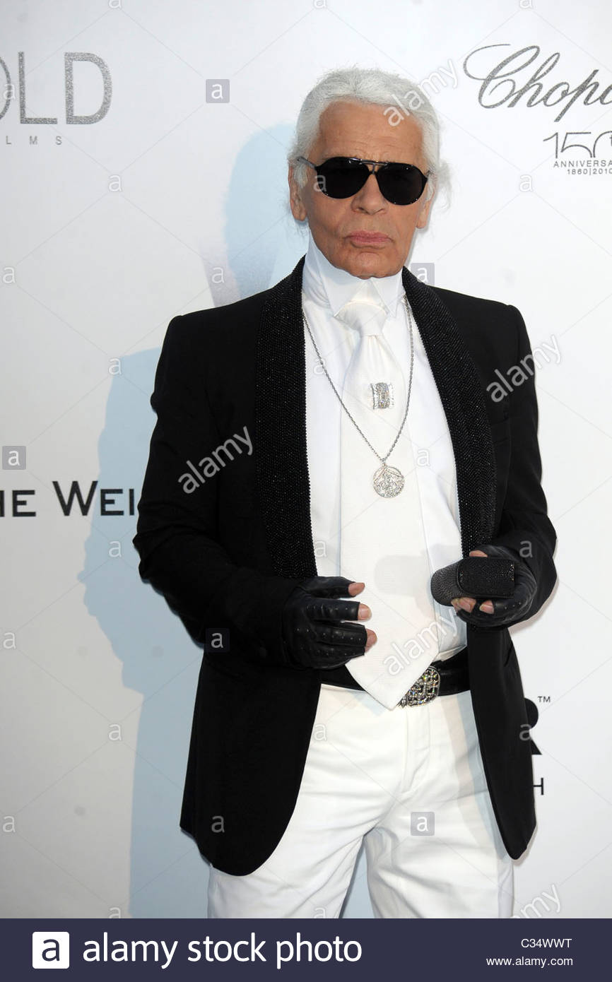 karl lagerfeld, 63° festival di cannes - Stock Image