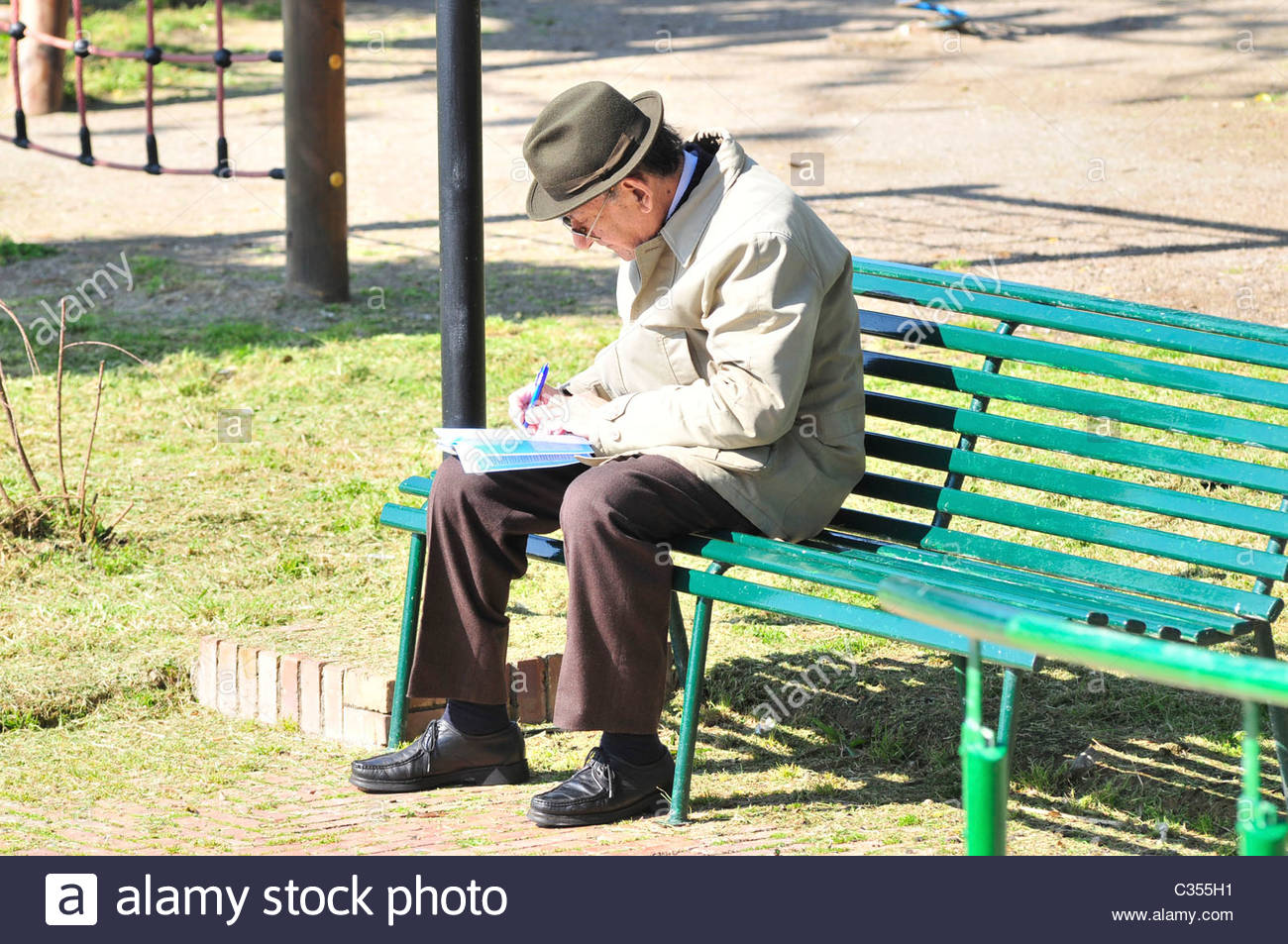 Old Man Sitting On A Bench Stock Photo 36378861 Alamy