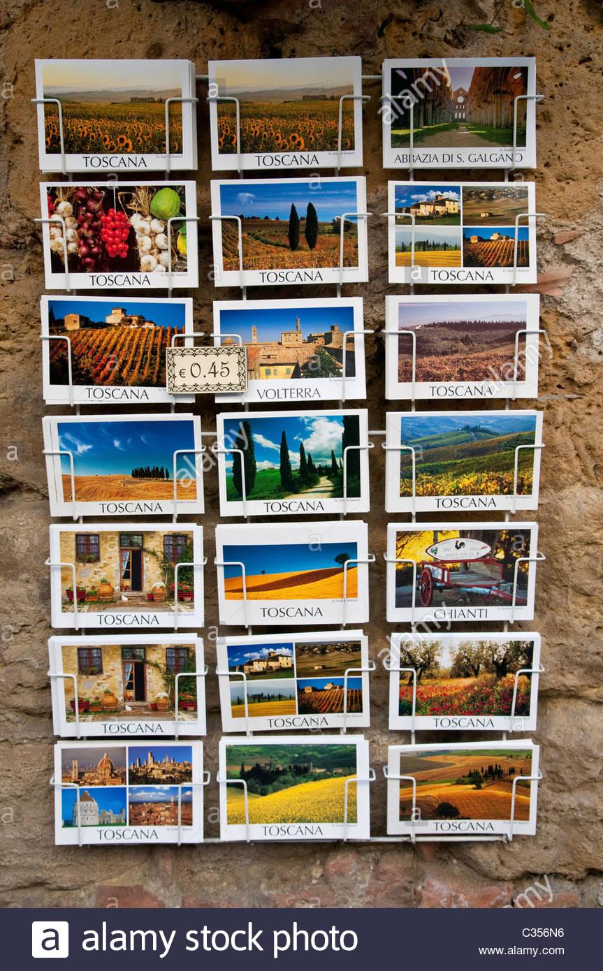 postcards,volterra,tuscany,italy - Stock Image