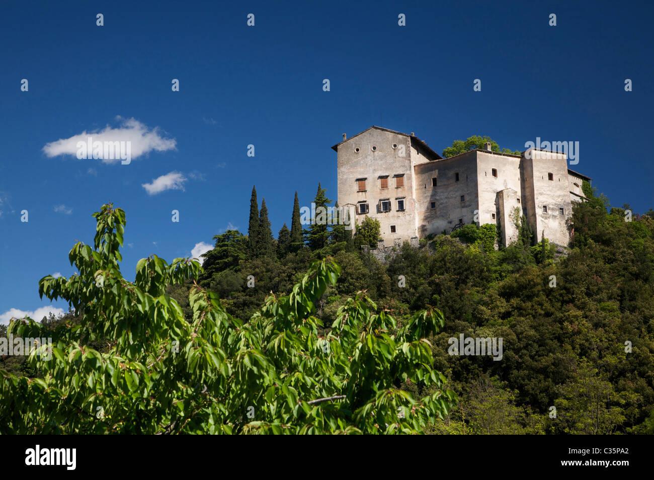 Madruzzo castle, Valle dei Laghi, Trentino Alto Adige, Italy, Europe - Stock Image
