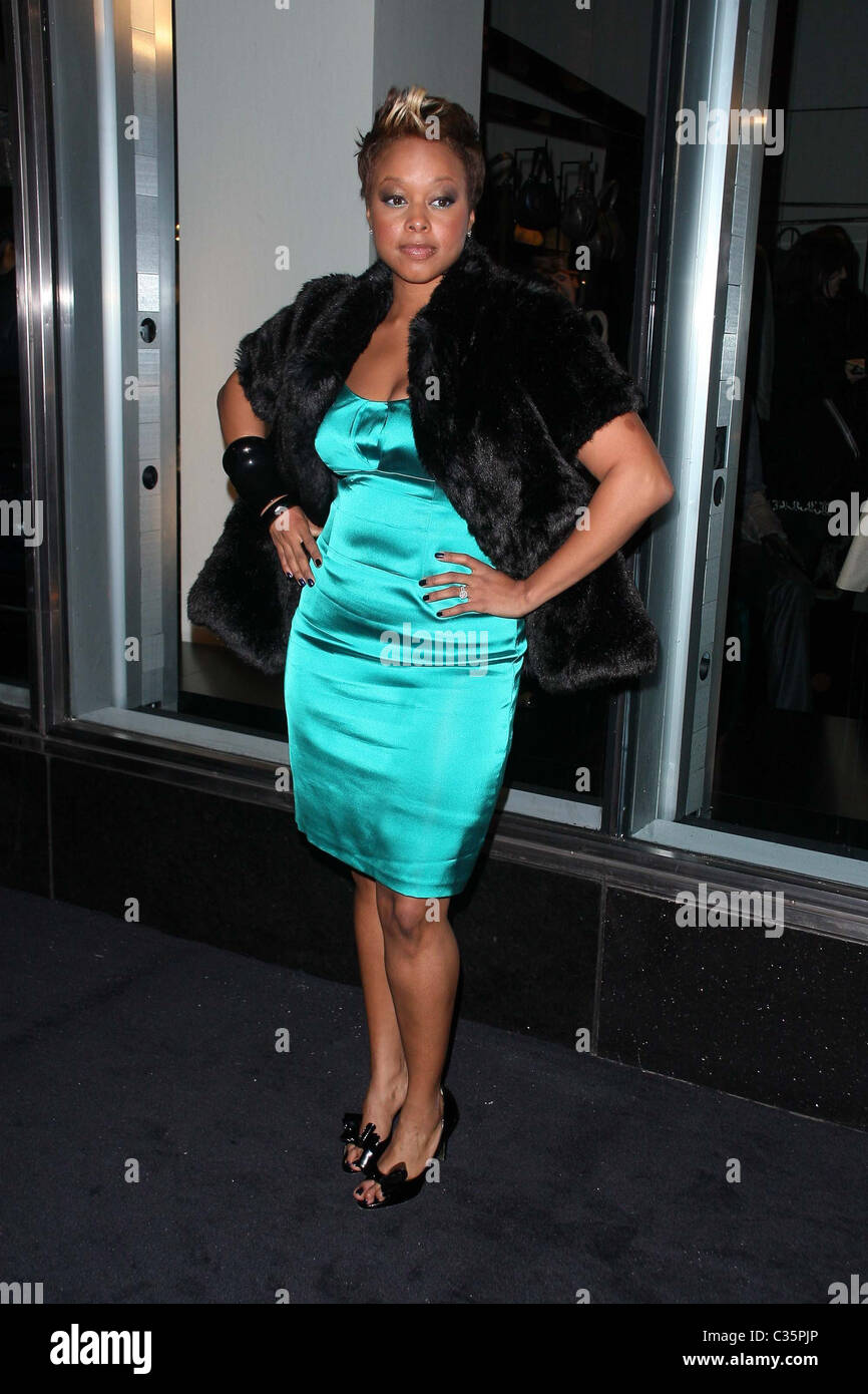 Chrisette Michele New Armani store opening on 5th Avenue. New York ...