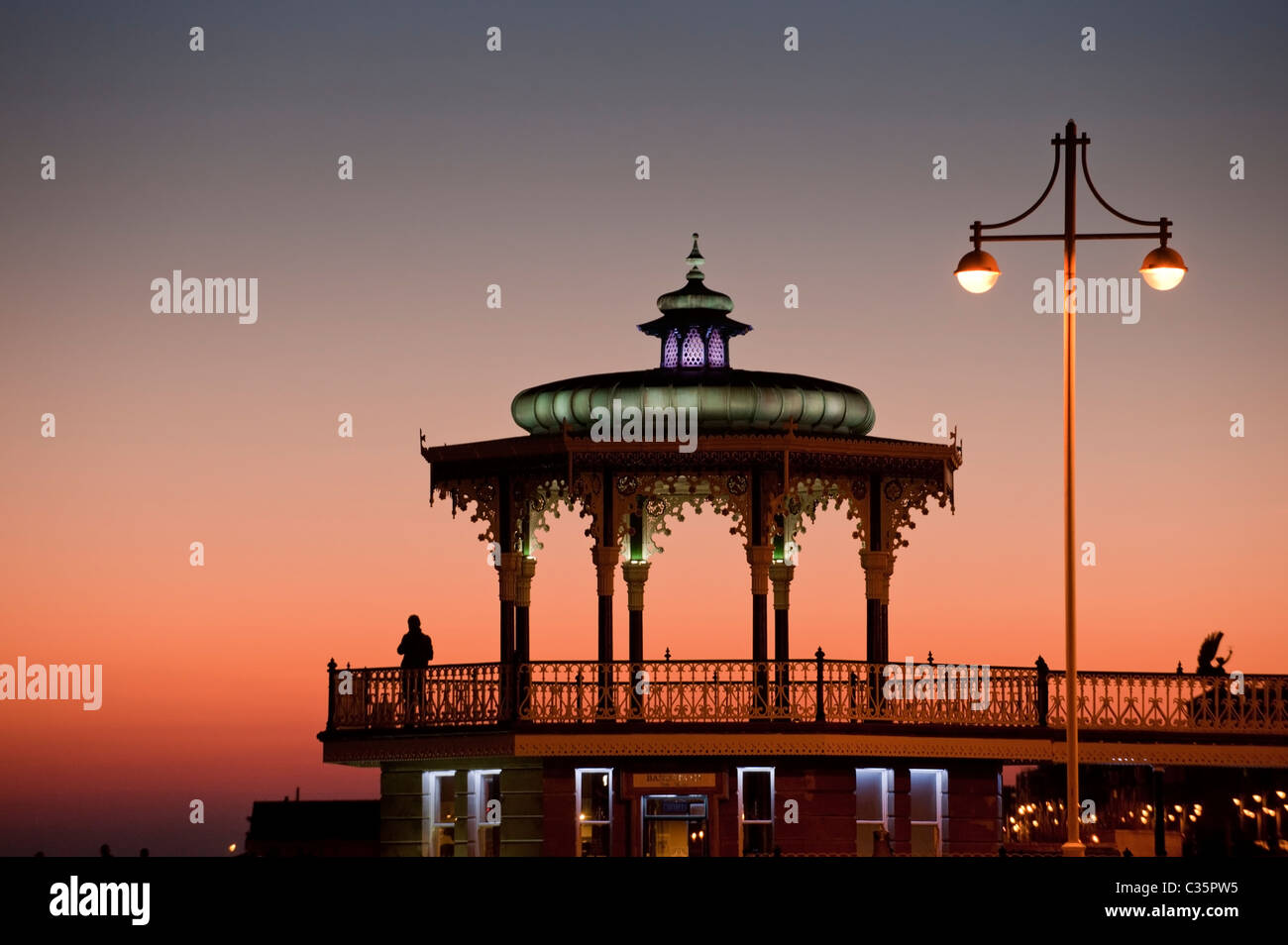 Brighton Bandstand on the seafront in Brighton, East Sussex, England - Stock Image