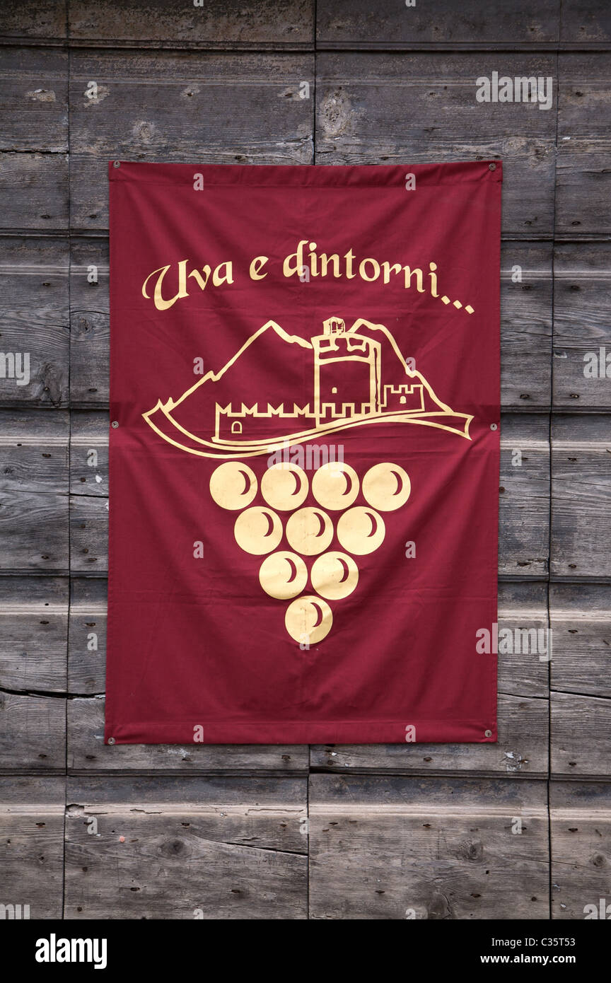 Banner, Uva e dintorni festival, Avio, Vallagarina, Trentino Alto Adige, Italy, Europe - Stock Image
