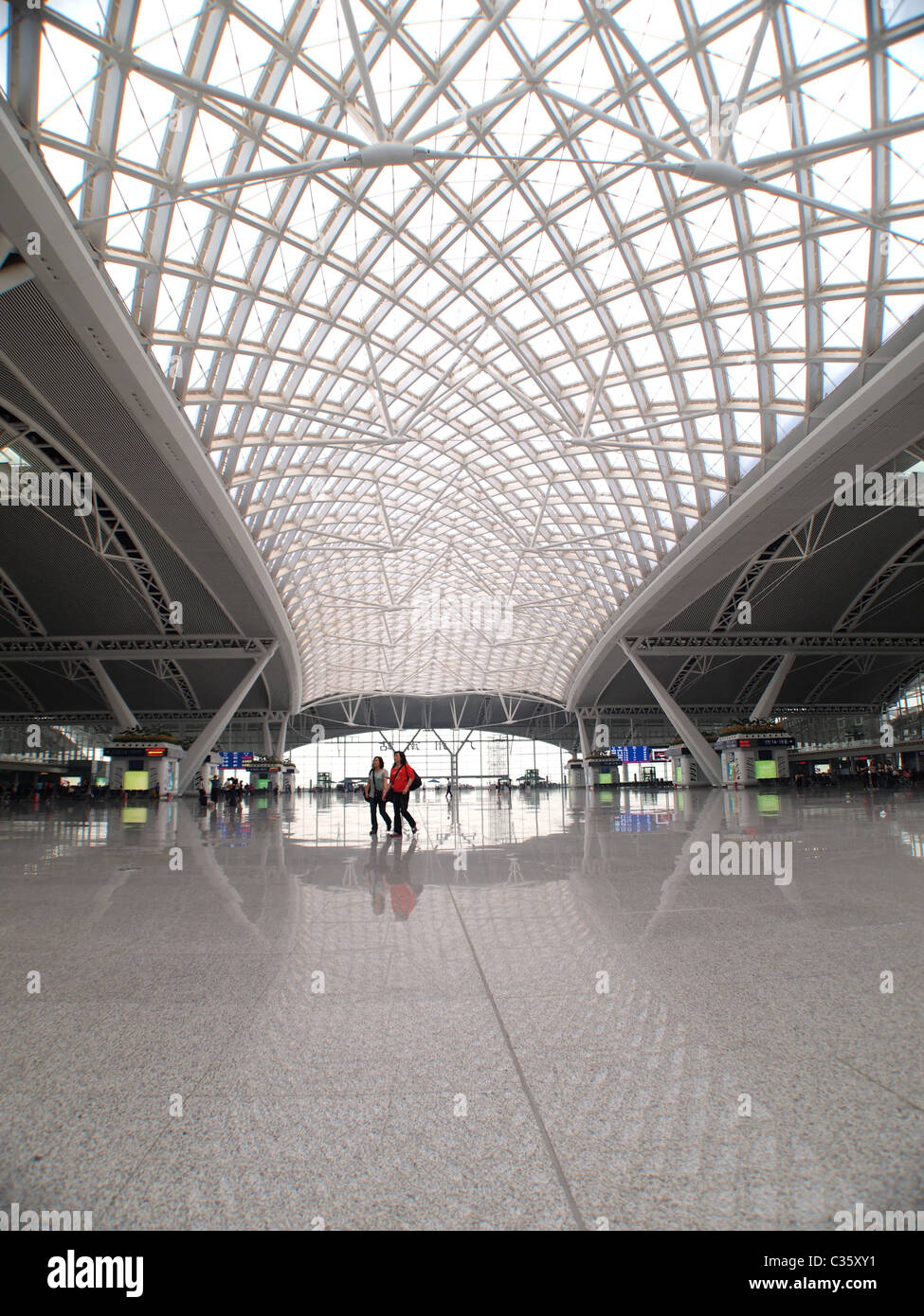 Modern Architecture at Railway Station in Guangdong - Stock Image