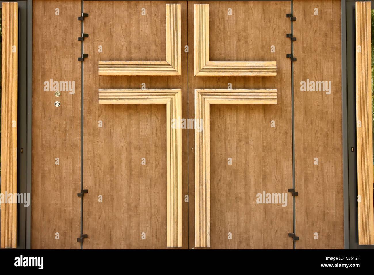 Wooden Crucifix At Church Stock Photos Wooden Crucifix At Church