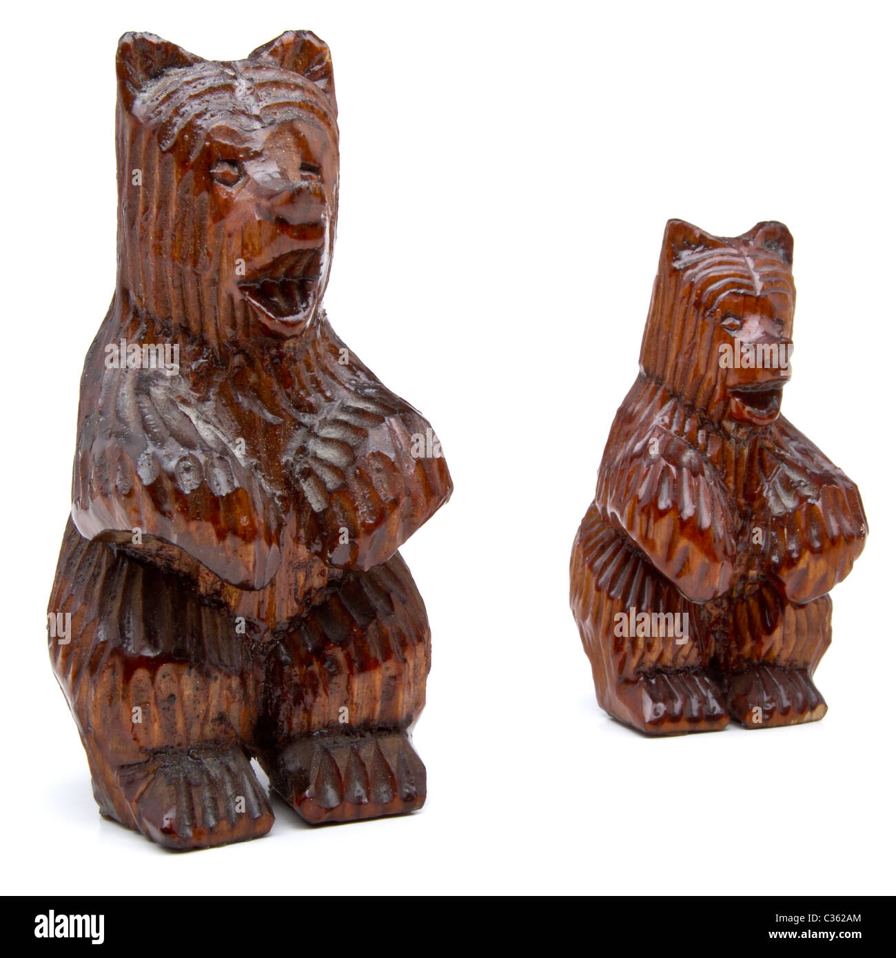 Wooden Carved Bears Stock Photos Wooden Carved Bears Stock Images