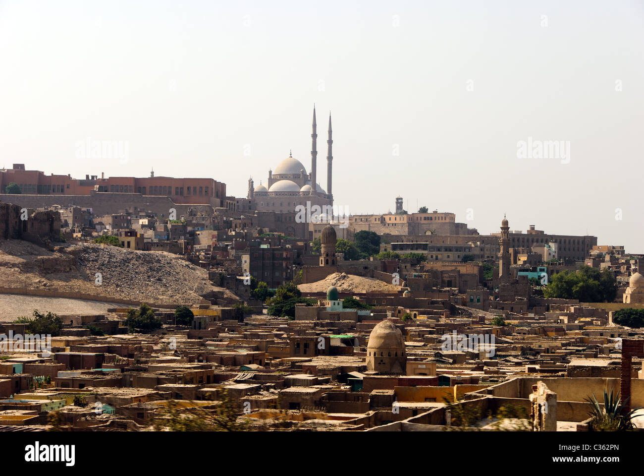 Muhammad Ali Mosque from the City of Dead - Cairo, Lower Egypt Stock Photo