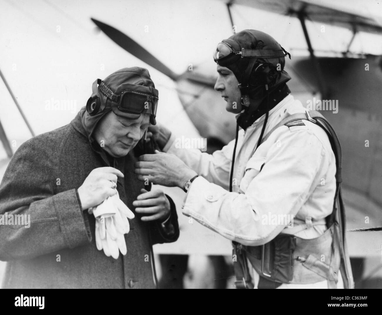 Sir Winston Churchill as an air commodore - Stock Image