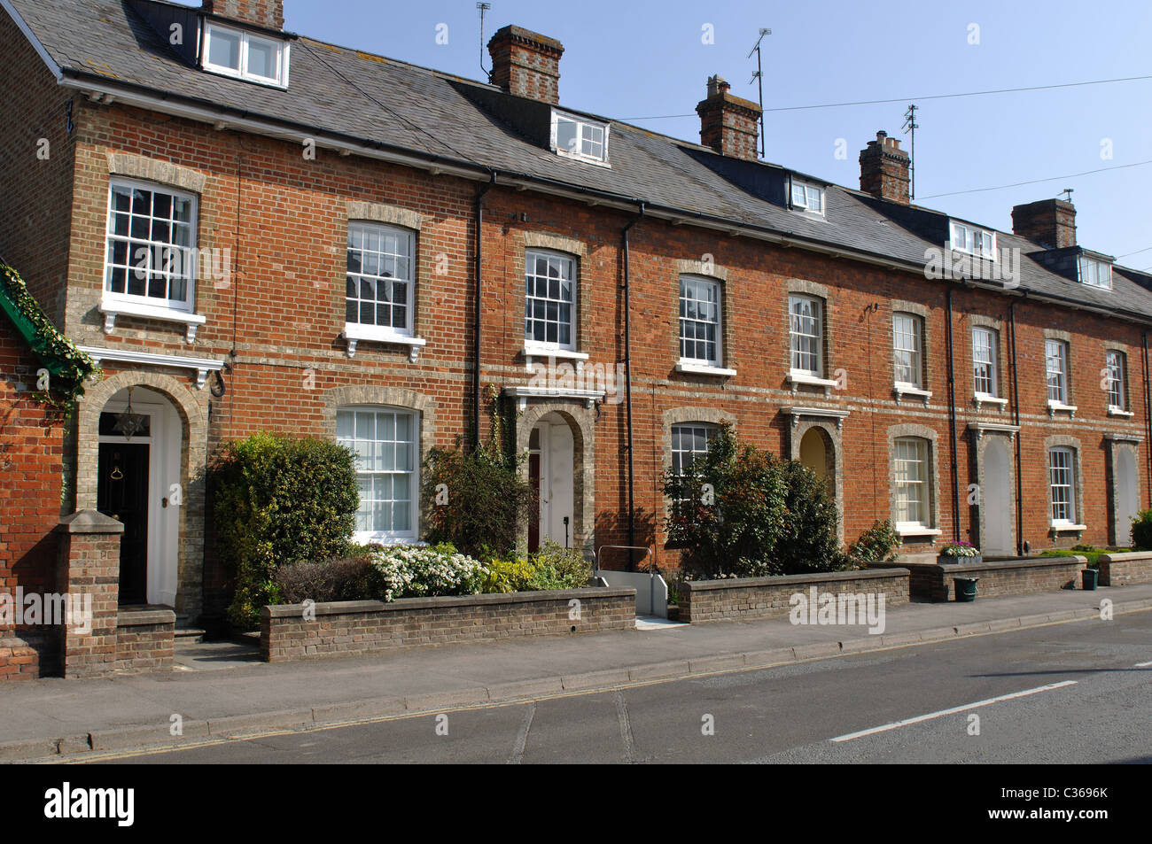 Houses in Portway, Wantage, Oxfordshire, England, UK - Stock Image