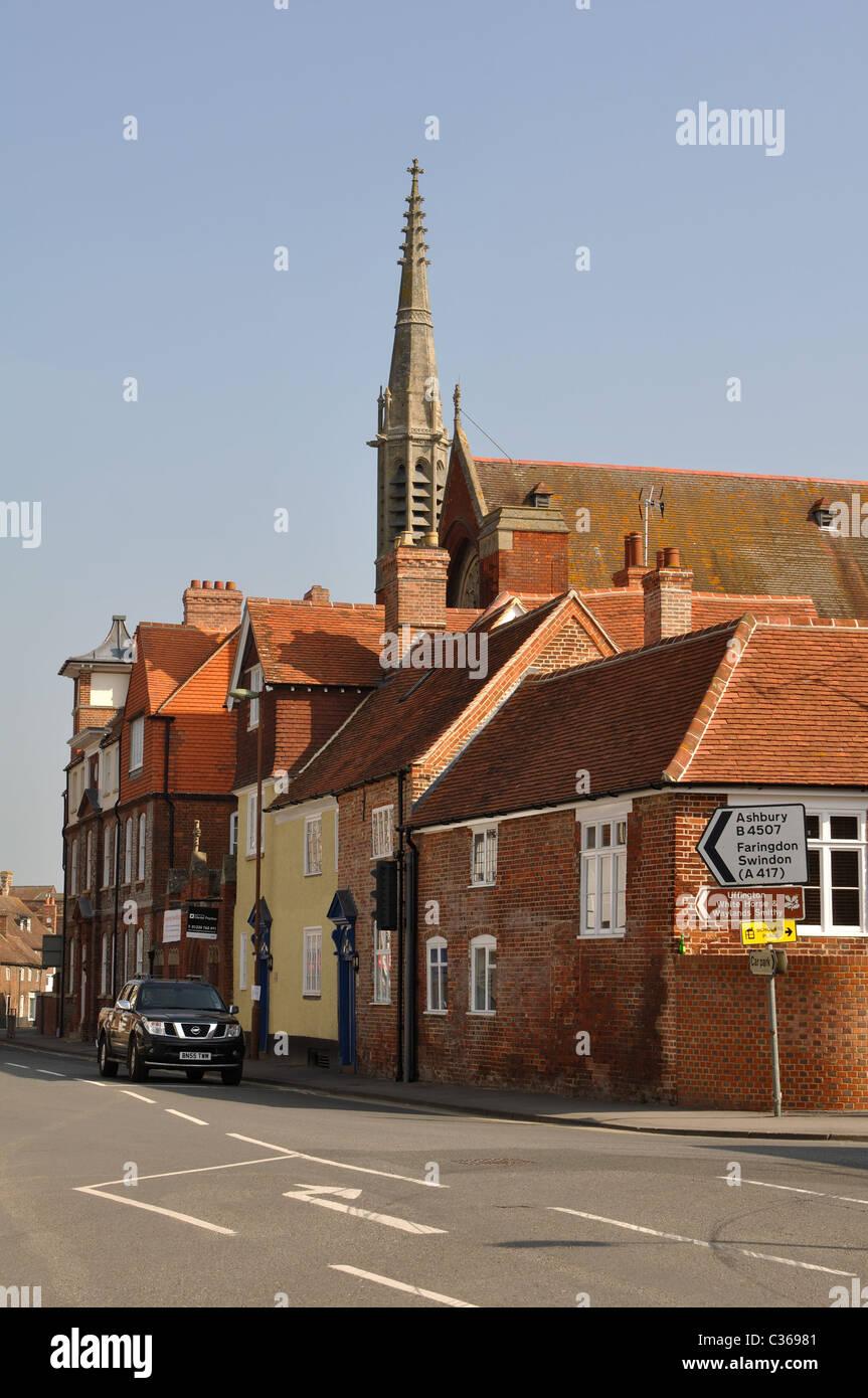 Newbury Street, Wantage, Oxfordshire, England, UK - Stock Image
