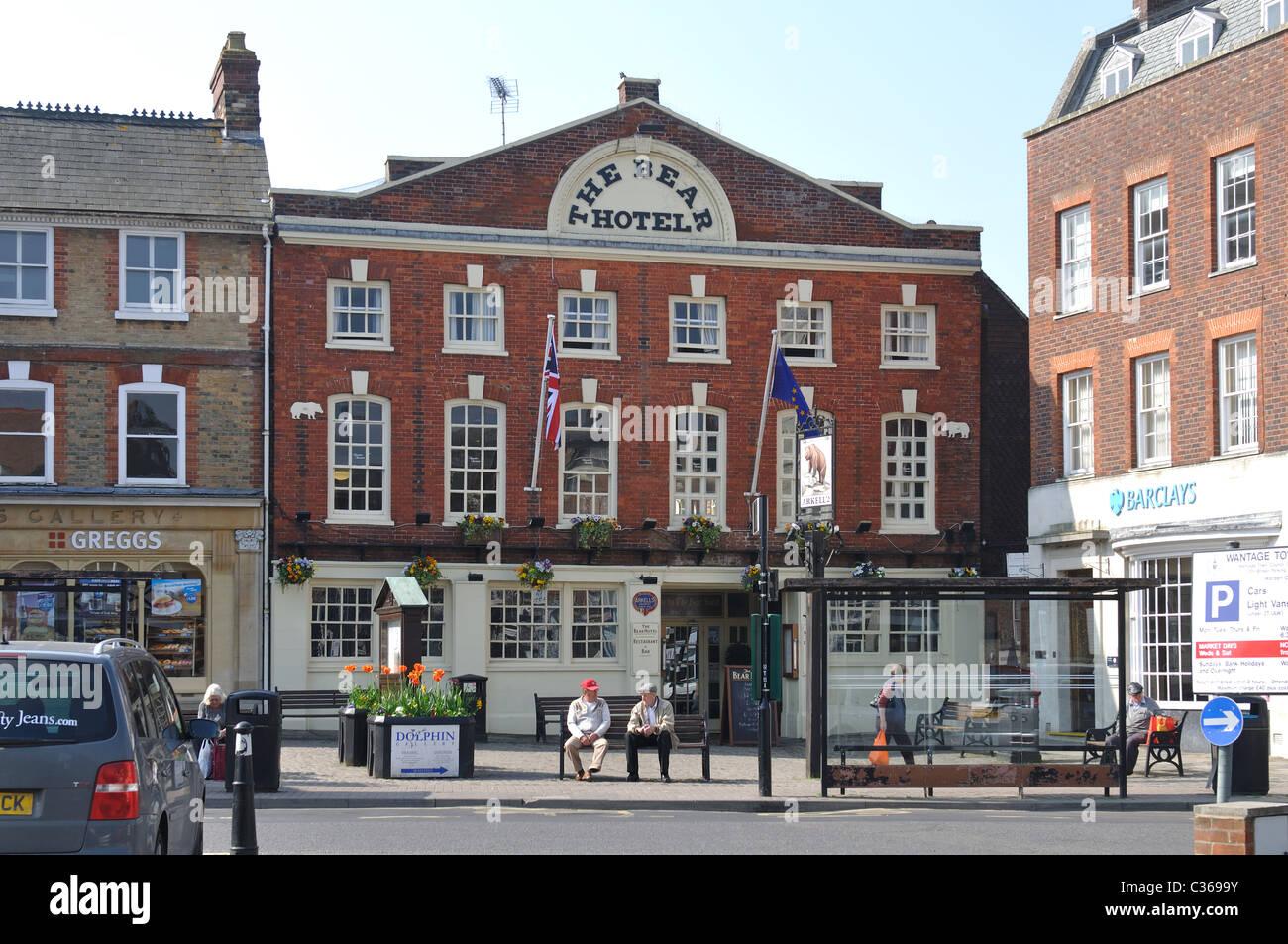 The Bear Hotel, Wantage, Oxfordshire, England, UK - Stock Image