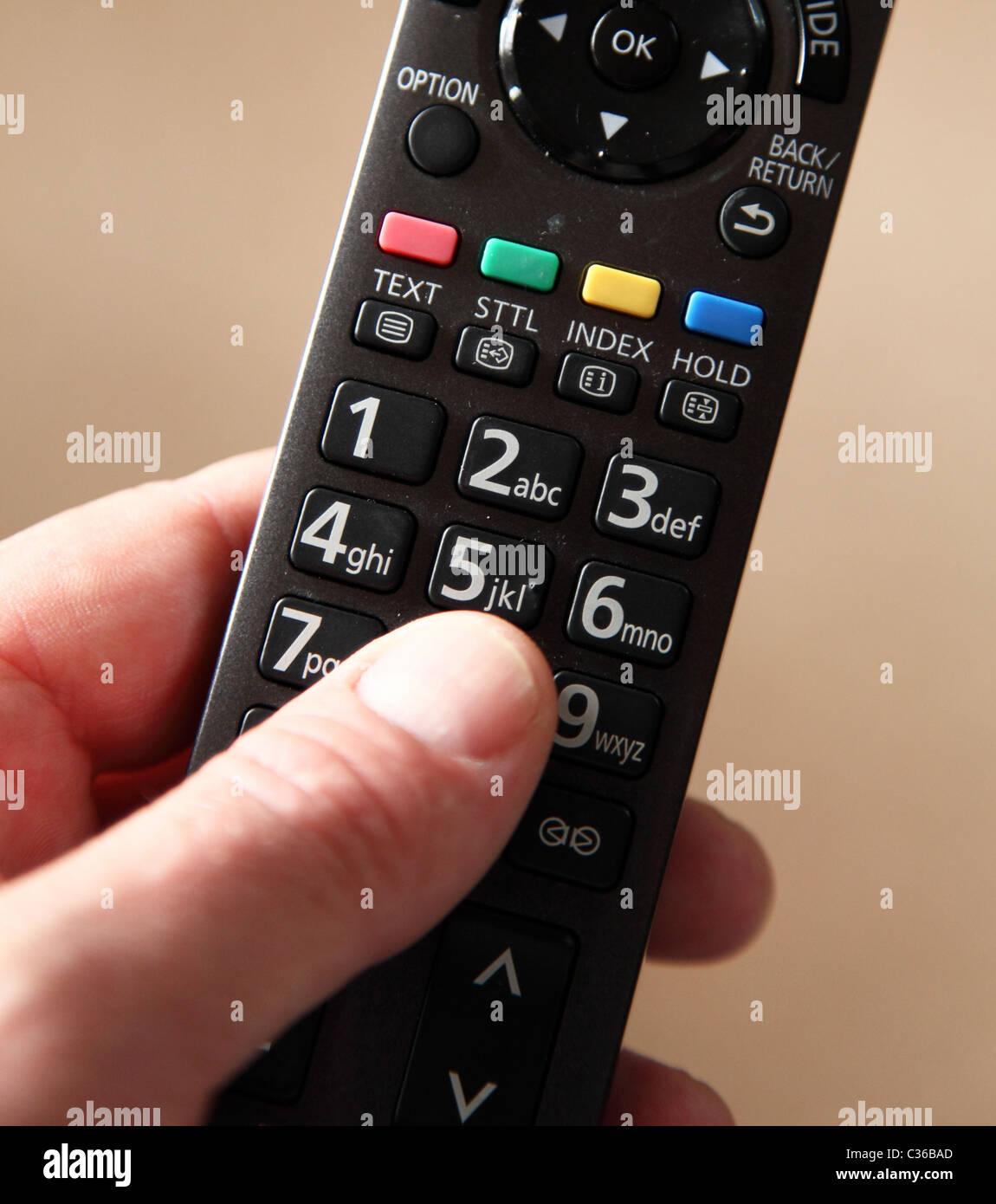 A digital TV remote control. - Stock Image