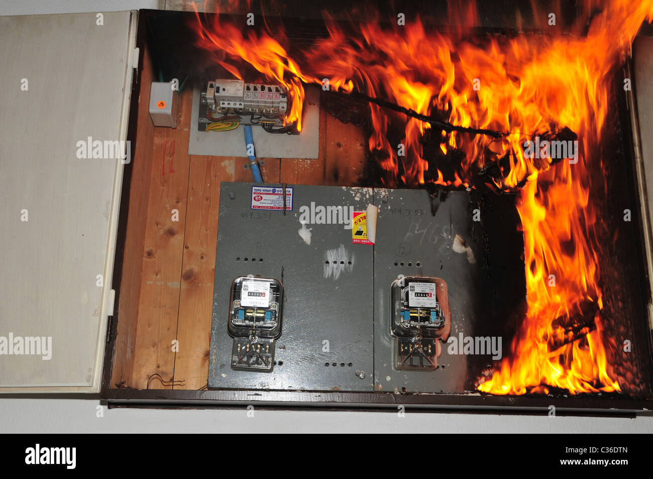 A Fire Broke Out In Household Electrical Fuse Box Flames Consumed Home The Board Photographed Israel