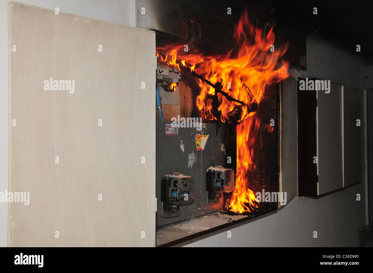 a fire broke out in a household electrical fuse box flames consumed Relay in Fuse Box Fires From Water a fire broke out in a household electrical fuse box flames consumed the board photographed in israel