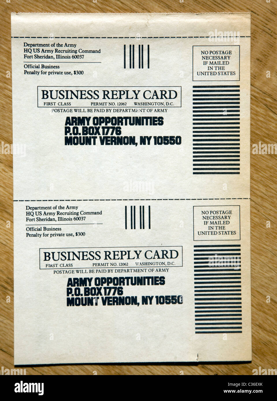 Business reply card usa army recruitment advert 1970s us military business reply card usa army recruitment advert 1970s us military reheart Images