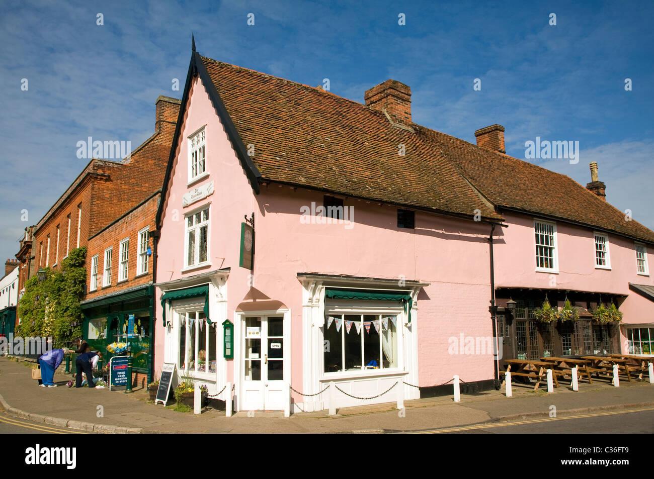 The Essex Rose tearoom Dedham Essex England - Stock Image