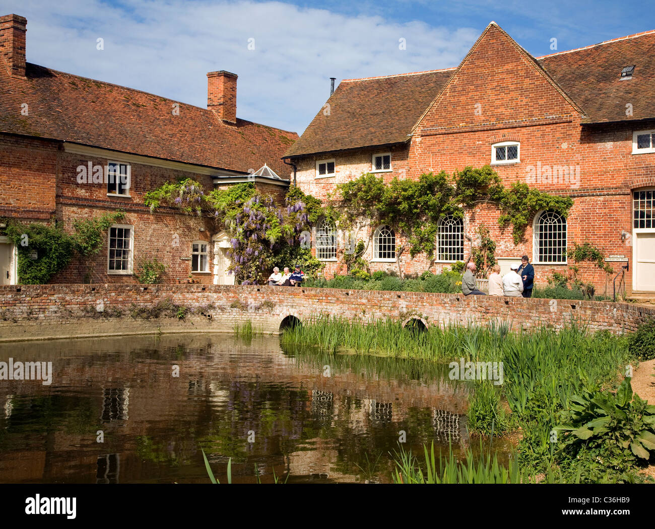 Flatford mill field studies council building Suffolk England Stock Photo