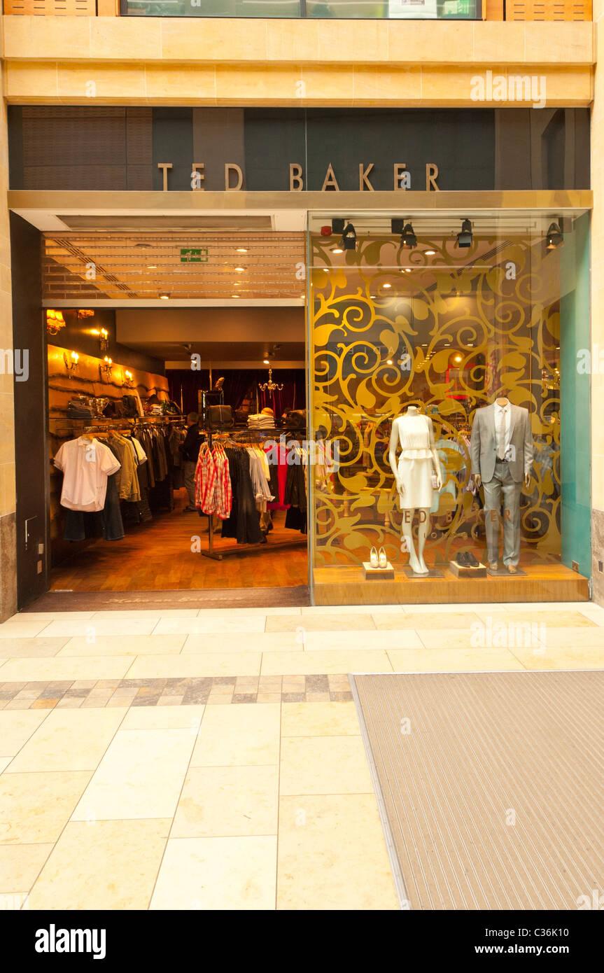 The Ted Baker shop store in Cambridge , Cambridgeshire , England , Britain , Uk - Stock Image