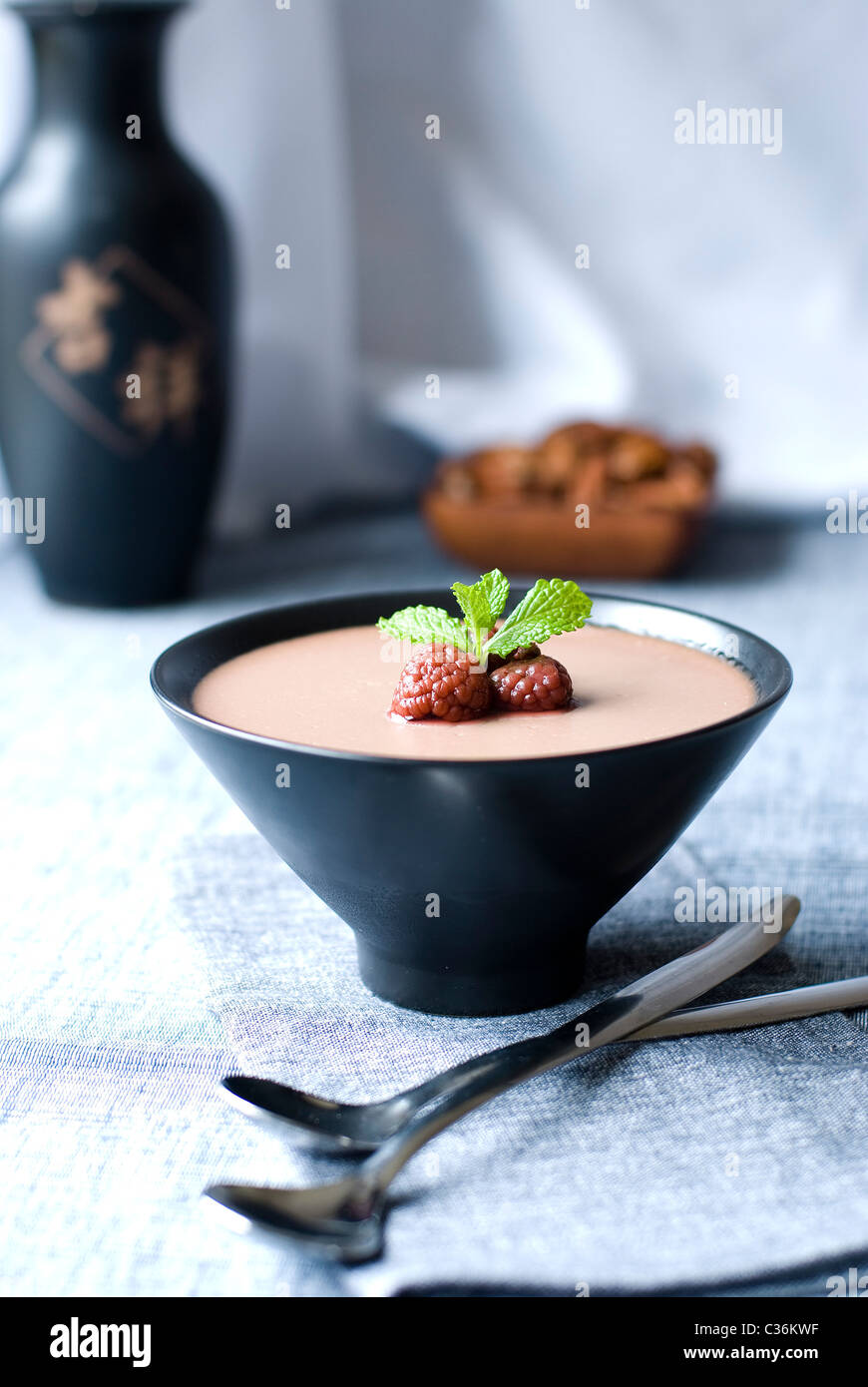 Chocolate mousse - Stock Image