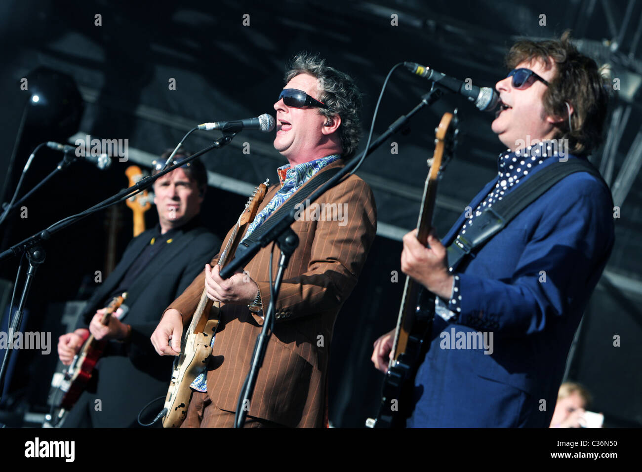 Pop Group Squeeze at Cornbury Festival in Oxfordshire 2009 Stock Photo