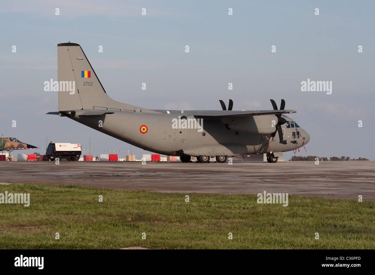 Alenia C-27J Spartan light cargo plane of the Romanian Air Force - Stock Image