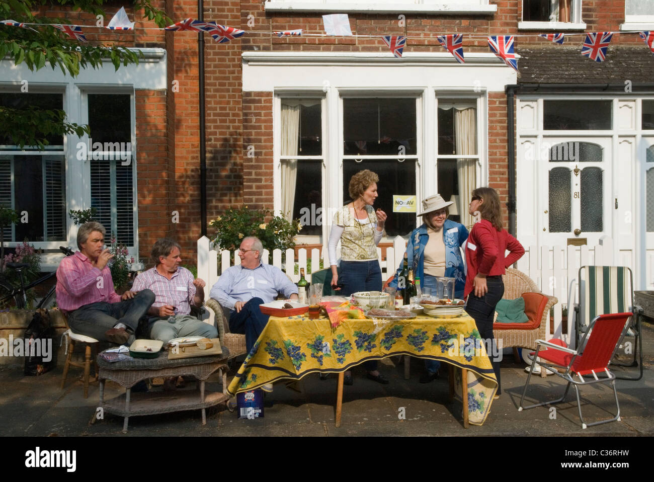 Neighbours Neighbors Royal Wedding Street Party. Barnes London UK. 29 April 2011 HOMER SYKES - Stock Image