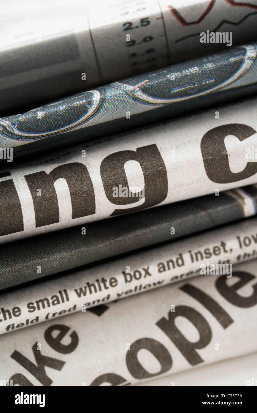 newspaper close up shot for background - Stock Image