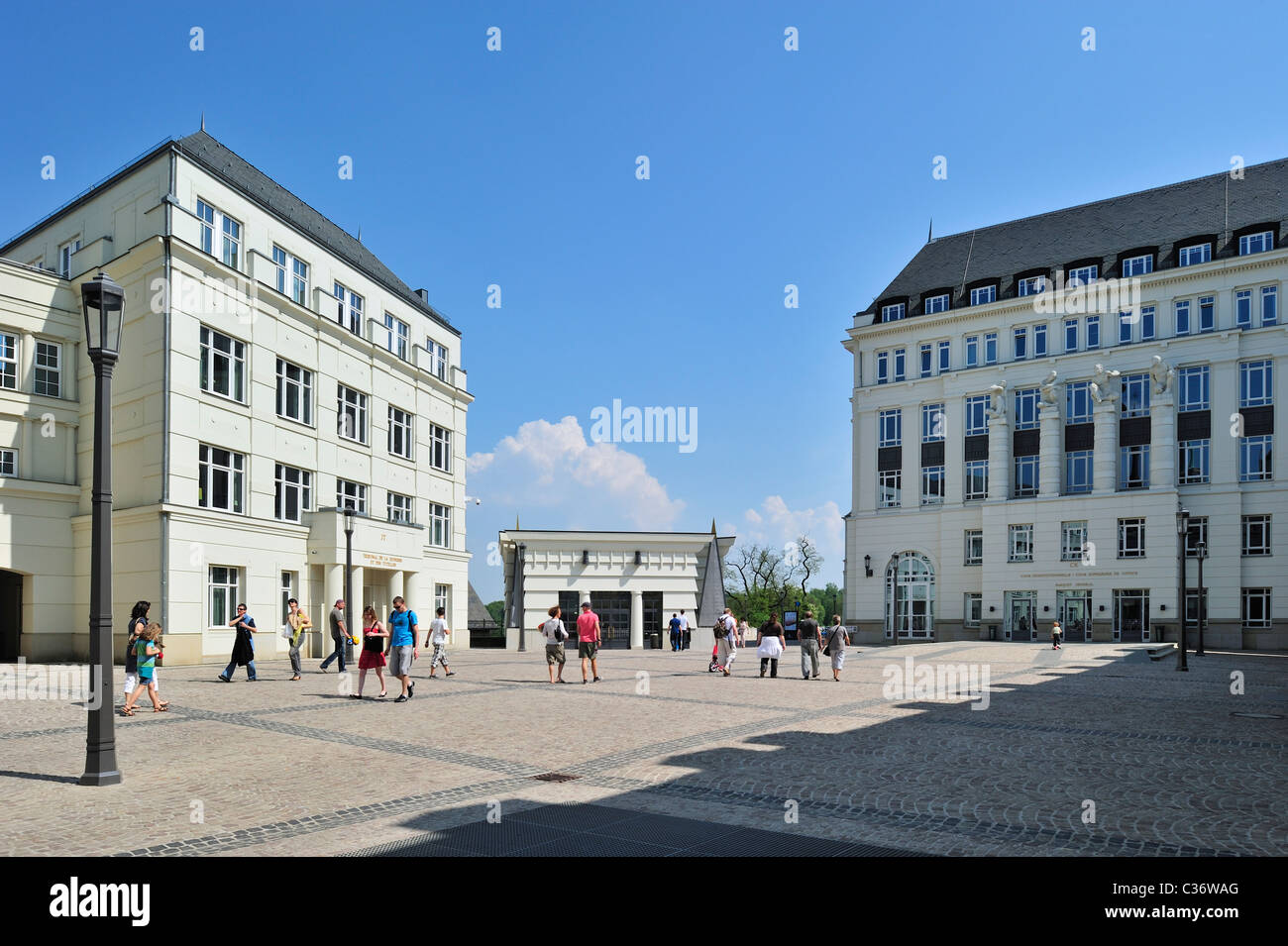 The cité judiciaire / Judiciary City on the Saint-Esprit plateau at Luxembourg, Grand Duchy of Luxembourg - Stock Image