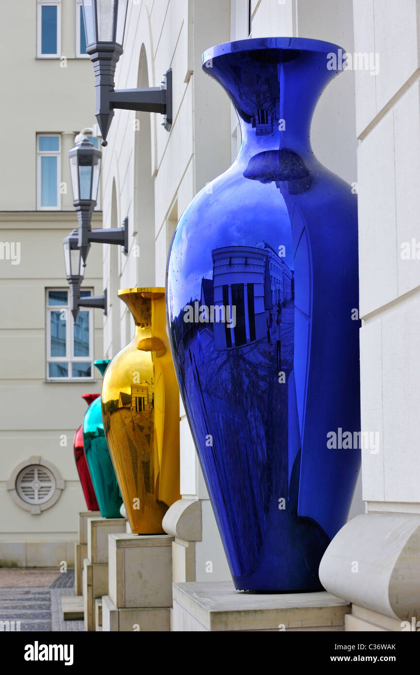 Art at the cité judiciaire / Judiciary City on the Saint-Esprit plateau at Luxembourg, Grand Duchy of Luxembourg - Stock Image