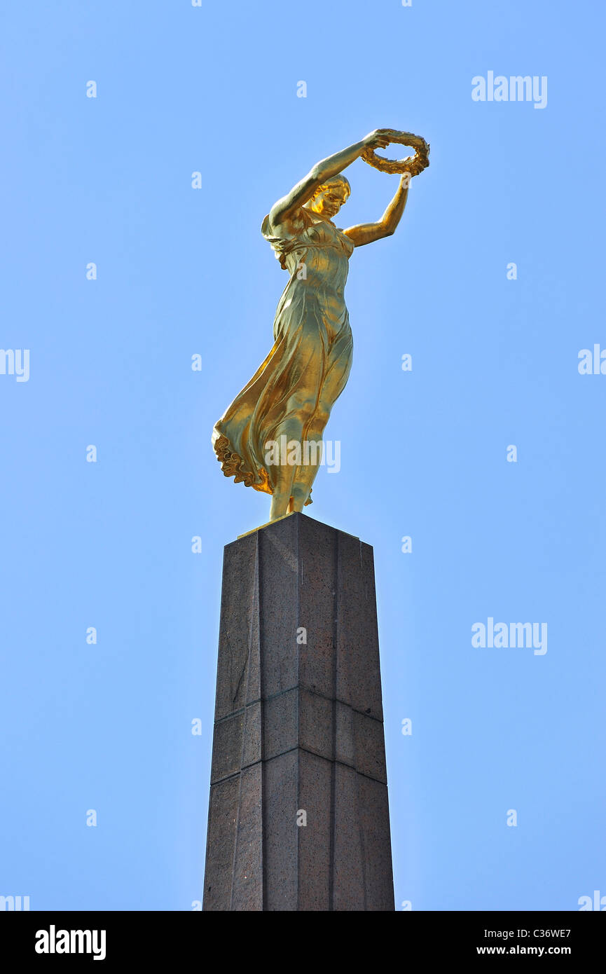 The Monument of Remembrance / Monument du Souvenir / Gëlle Fra at Luxembourg city - Stock Image