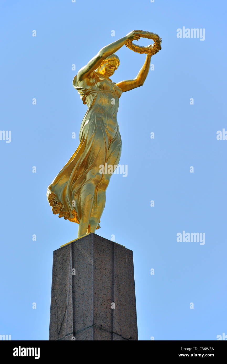 The WW1 Monument of Remembrance / Monument du Souvenir / Gëlle Fra at Luxembourg, Grand Duchy of Luxembourg - Stock Image