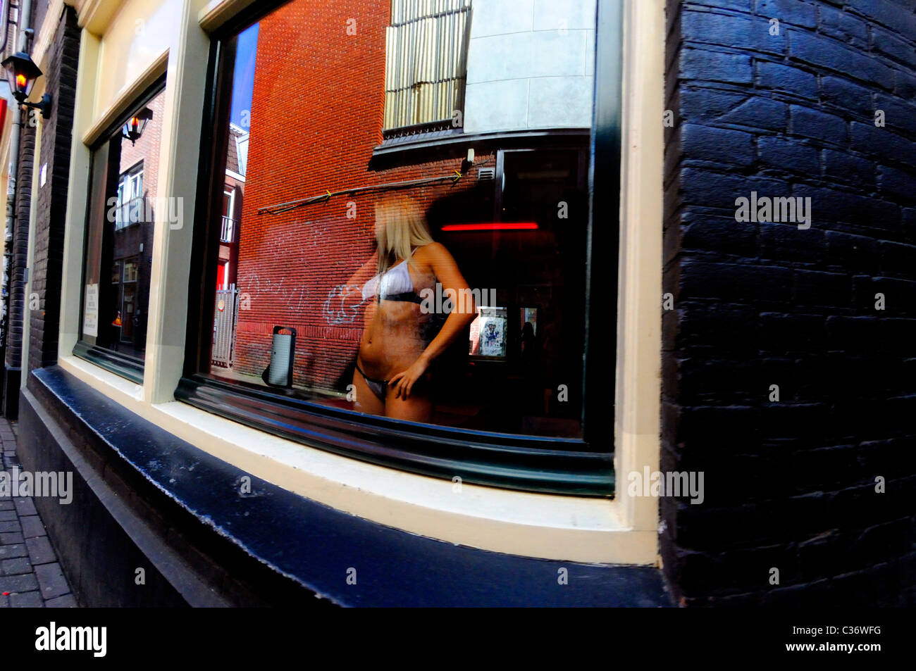 Amsterdam Netherlands Prostitute In The Red Light District No