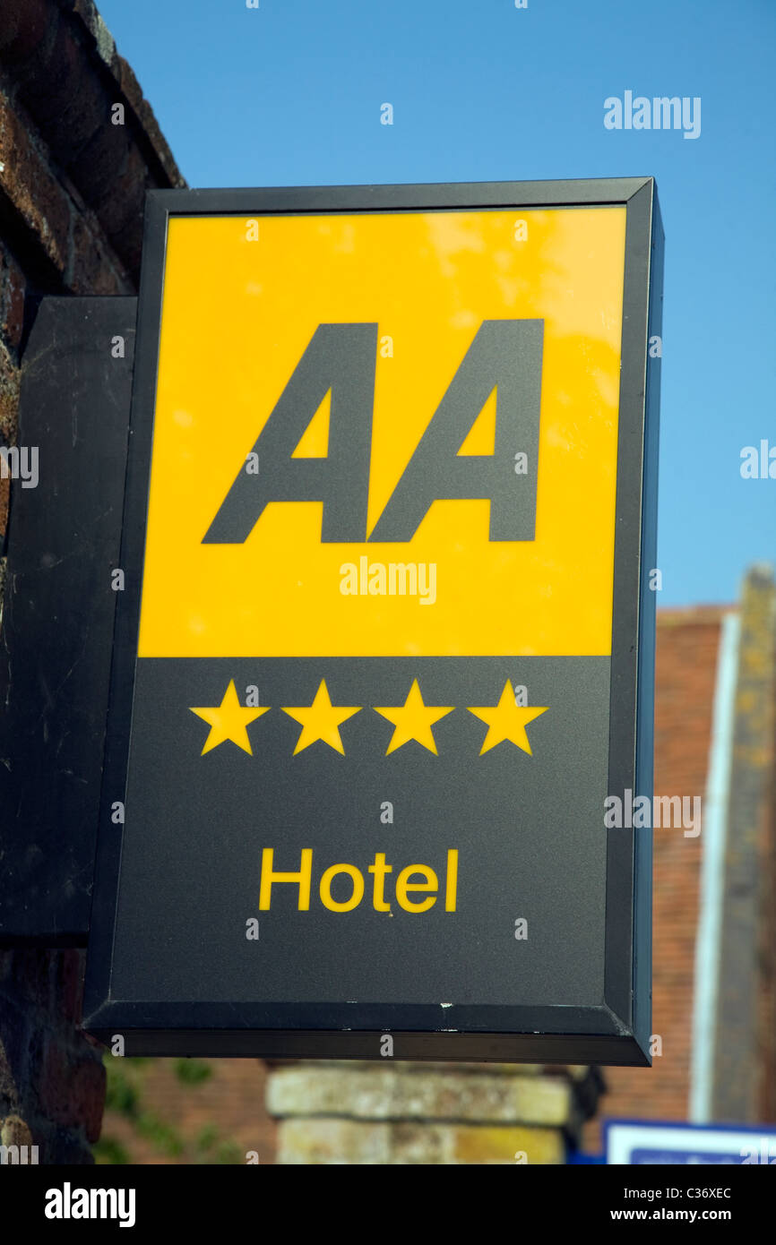 AA four star graded hotel sign - Stock Image