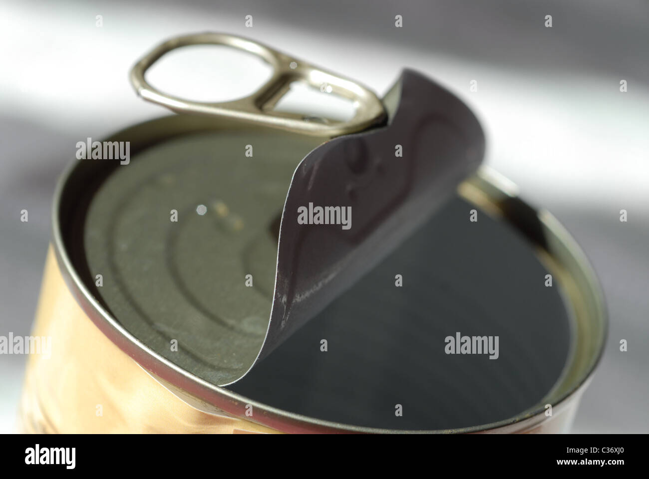 Open can. - Stock Image