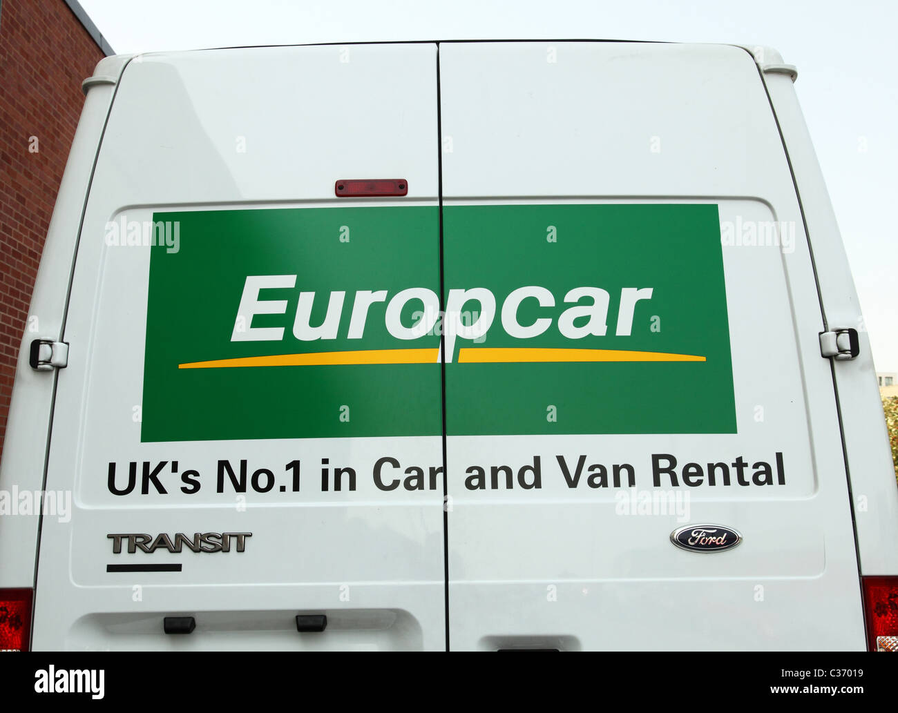 A Europcar Hire Vehicle On A U K Road Stock Photo 36418405 Alamy