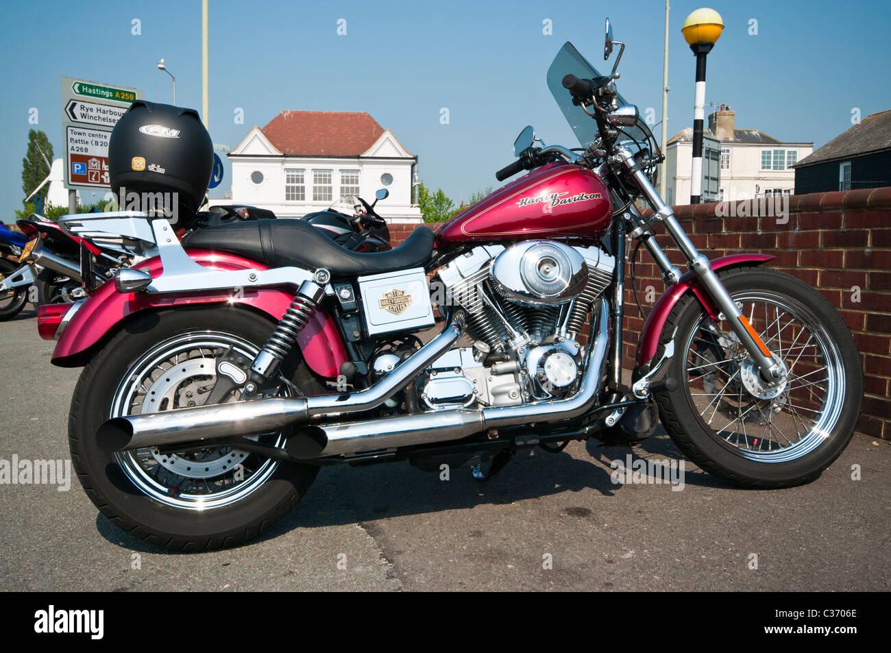 A Harley Davidson Motorcycle - Stock Image