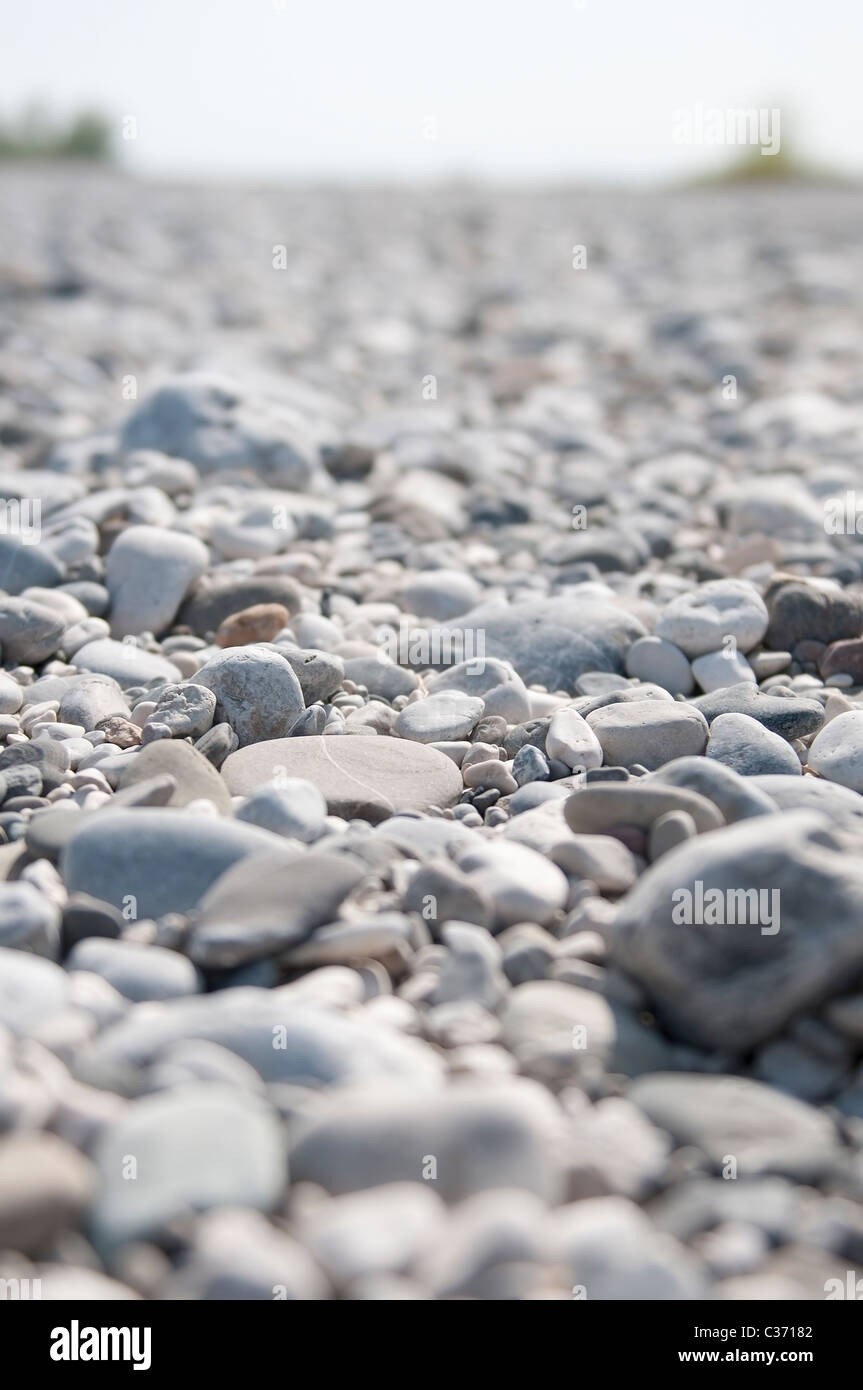 the gravel of the river - Stock Image