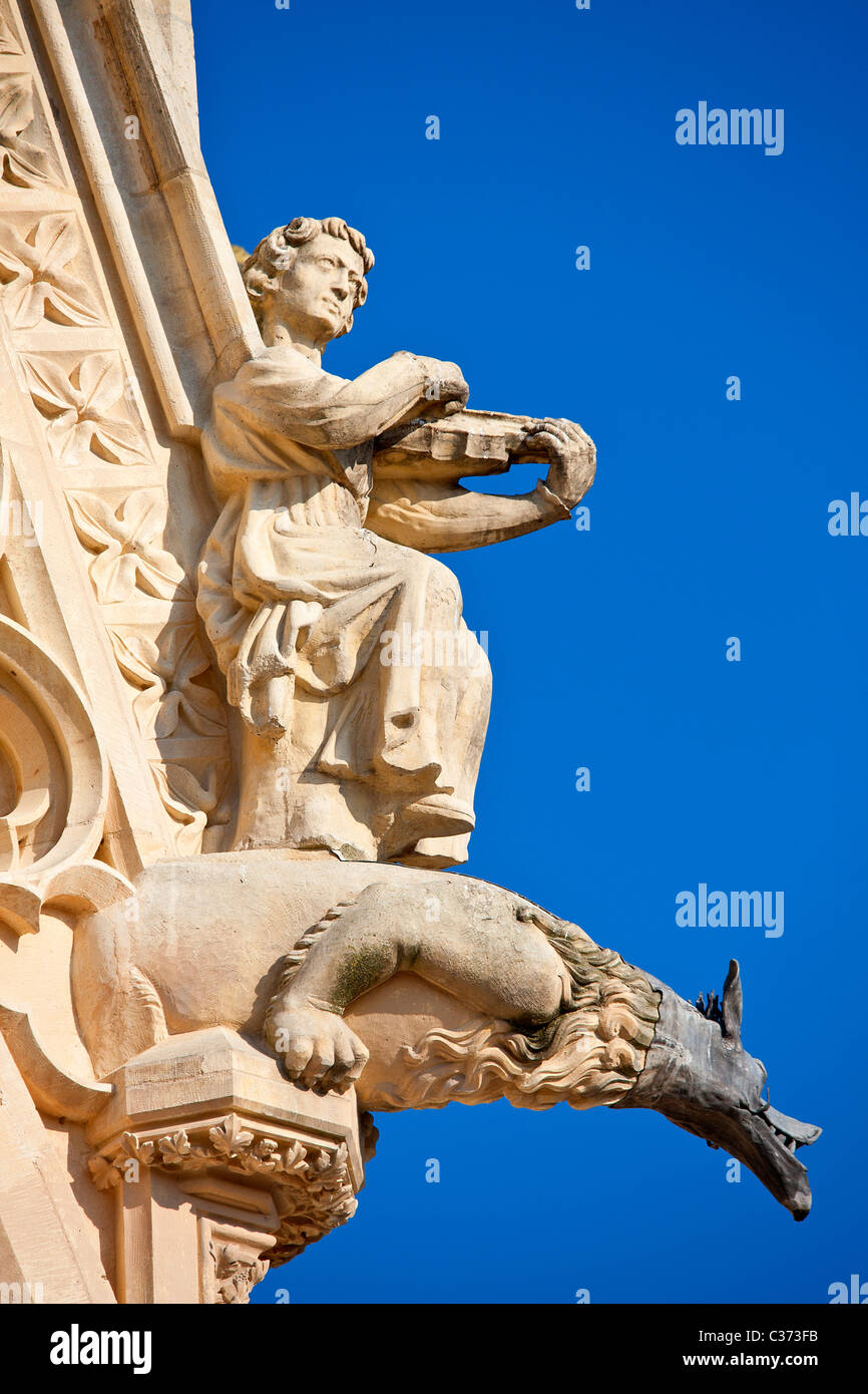 Europe, France, Marne (51), Notre-Dame de Reims, listed as World Heritage by UNESCO, - Stock Image