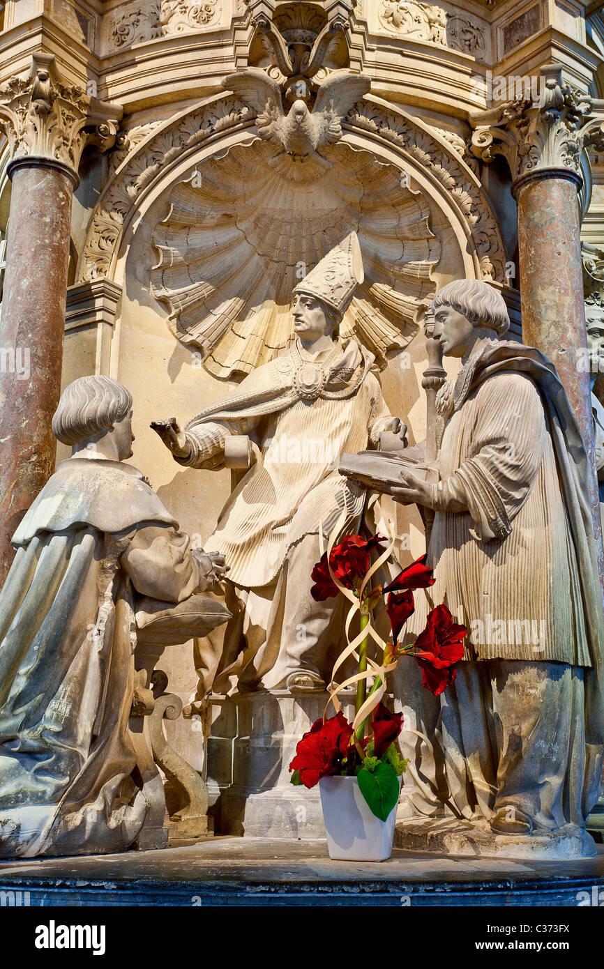 Reims, Saint Remi Basilica - Stock Image